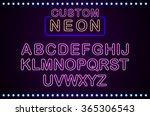 set retro custom neon signs... | Shutterstock . vector #365306543