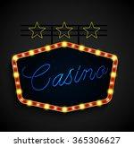 shining retro light banner on... | Shutterstock .eps vector #365306627