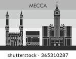 mecca skyline detailed... | Shutterstock .eps vector #365310287