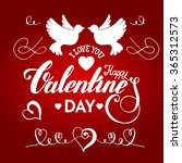 valentines day  handdrawn...   Shutterstock .eps vector #365312573