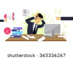 stressful condition icon flat... | Shutterstock .eps vector #365336267
