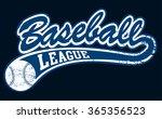 blue baseball league banner... | Shutterstock . vector #365356523