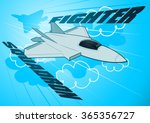 air force jet fighter squadron... | Shutterstock .eps vector #365356727
