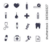 health  medical contour icons ... | Shutterstock .eps vector #365360327