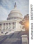 capitol hill building in... | Shutterstock . vector #365373977