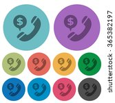 color money call flat icon set...