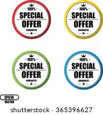 100  special offer guarantee ... | Shutterstock .eps vector #365396627