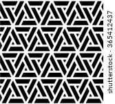 black and white geometric... | Shutterstock .eps vector #365412437