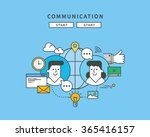 simple color line flat design...   Shutterstock .eps vector #365416157