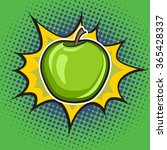 vector apple pop art retro... | Shutterstock .eps vector #365428337