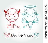 The Red Devil And  Cute Angel ...