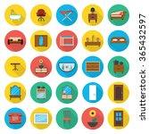 furniture icons set. furniture...