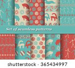 set of vector tribal striped... | Shutterstock .eps vector #365434997
