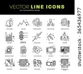 thin line icons set. business... | Shutterstock .eps vector #365436977