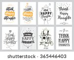 inspirational quote cards. hand ... | Shutterstock .eps vector #365446403