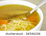 chicken soup with noodles | Shutterstock . vector #36546106