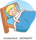 boy sleeping doodle   Shutterstock .eps vector #365466347