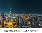 aerial view of dubai's business ... | Shutterstock . vector #365472407