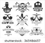 vintage gentlemen club emblems  ... | Shutterstock .eps vector #365486657