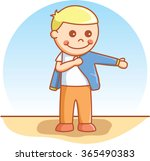boy wearing cloth | Shutterstock .eps vector #365490383