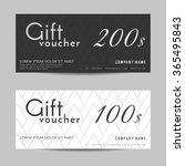 gift voucher template   vector... | Shutterstock .eps vector #365495843