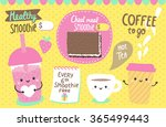 cute characters   smoothie  tea ... | Shutterstock .eps vector #365499443