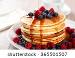 Pancakes With Berries And Mapl...