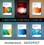 set of 6 brochure template ... | Shutterstock . vector #365529527