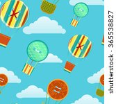 stylized cartoon balloons