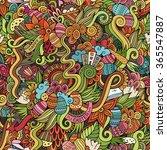 cartoon hand drawn doodles on... | Shutterstock .eps vector #365547887