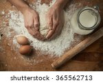 close up of baker hands... | Shutterstock . vector #365562713