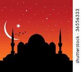 mosque | Shutterstock .eps vector #36556333