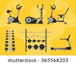 gym equipment for workout | Shutterstock .eps vector #365568203