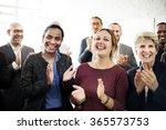 business people team applauding ... | Shutterstock . vector #365573753