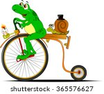 Funny Frog Traveling On The Ol...