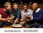 group of male friends enjoying... | Shutterstock . vector #365582387