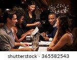 waitress takes order in... | Shutterstock . vector #365582543