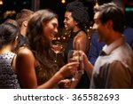 couples chatting and drinking... | Shutterstock . vector #365582693