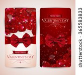 set of two valentines day cards ... | Shutterstock .eps vector #365583833