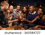 group of friends enjoying night ... | Shutterstock . vector #365584727