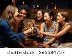 group of female friends... | Shutterstock . vector #365584757
