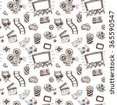 hand drawn cinema doodle... | Shutterstock .eps vector #365590547