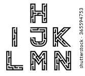 vector real maze alphabet font... | Shutterstock .eps vector #365594753