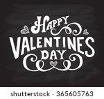 hand sketched happy valentine's ... | Shutterstock .eps vector #365605763