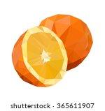 vector illustration orange ... | Shutterstock .eps vector #365611907