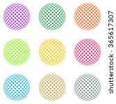 set of colored balls composed... | Shutterstock .eps vector #365617307
