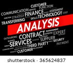 word cloud of analysis related... | Shutterstock . vector #365624837