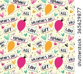 happy valentine's day. seamless ... | Shutterstock .eps vector #365629877