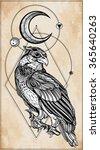 detailed hand drawn bird of... | Shutterstock .eps vector #365640263