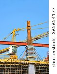 concrete formwork and crane on... | Shutterstock . vector #365654177